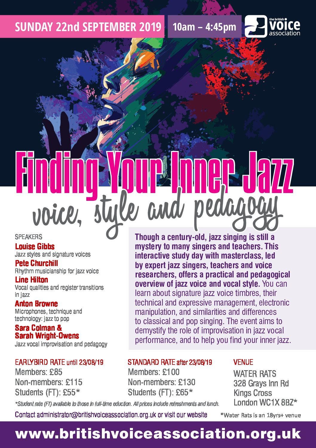 Finding Your Inner Jazz - voice, style & pedagogy