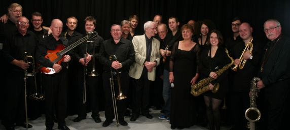 Louise Gibbs with the Yorkshire Jazz Orchestra  (credit: Isi Abebe)